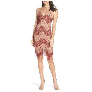 [bardot] two tone lace dress